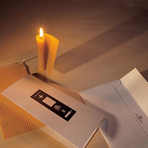 weihnachtskarte wax bienenwachskarte wax originelle weihnachtskarten designshop. Black Bedroom Furniture Sets. Home Design Ideas